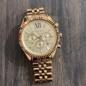 Michael Kors gold oversized watch